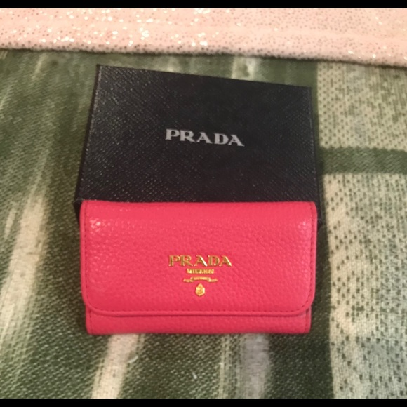 4acd480afcdc Authentic PRADA Vitello Grain Leather Key Holder.  M_5c54d7de9fe486416e0aa77a. Other Accessories ...